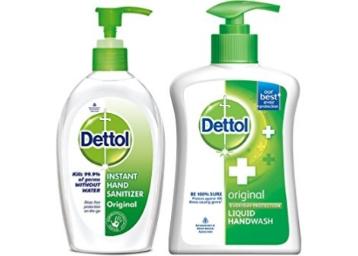 Dettol Sanitizer 200ml & Dettol Original Handwash 200 at Rs. 50 Cashback discount deal
