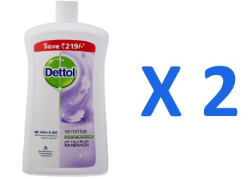Bumper Deal:- Dettol Sensitive Liquid Soap Jar – 900 ml (Pack of 2) at Rs. 276 discount deal