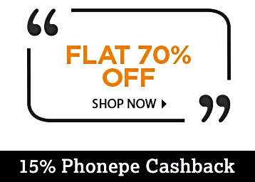 Only For Today – Clothing, Footwear & More at 70% Off + 15% Phonepe Cashback discount deal