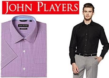 Amazon DOD : John Player Shirts at Minimum 60% off + Rs.50 Cashback low price