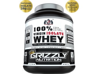 Grizzly Nutrition 100% Virgin Whey Protein at Rs.1999 [MRP- 3500] discount deal
