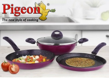Flat 71% off:- Pigeon Royal Induction Cookware Set ( 3 Piece) at Rs. 989 discount deal