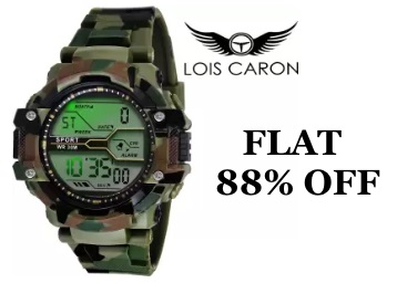 Flat 88% Off on Lois Caron Sports Watch at Rs.299 low price