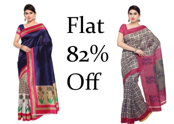 Get 82% Off On OOMPH! Silk Saree With Extra 10% Off low price