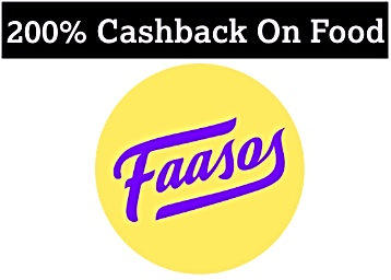 FAASOS LOOT – Order Food Of Rs. 225 & Get Rs. 475 Cashback discount deal