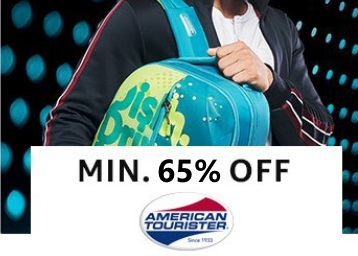 American Tourister Backpack at 70% off + 10% Coupon & Cashback Extra low price