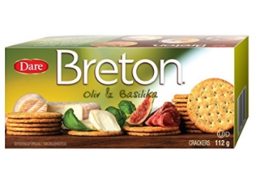 Breton Swedish Crackers, Basil and Olive Oil, 112g at Flat 50% OFF discount deal
