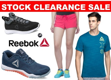 Clearance Sale:- REEBOK Official Entire Range at Flat 50% – 80% off low price