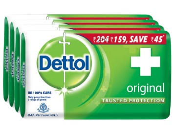 Apply 7% Code – Dettol Original Soap – 125 g (Pack of 4) at Just Rs. 143 discount deal