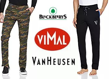 Van Heusen, Vimal & More Trousers Flat 50% off + Extra Rs. 50 Cashback low price