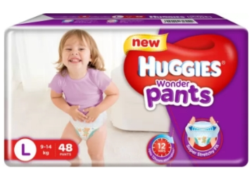 Lowest Price : Huggies Wonder Pants Large Size Diapers 96Pcs at 40% off discount deal