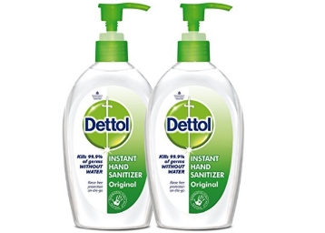 Dettol Original Instant Hand Sanitizer 200 ml (Pack of 2) at Rs. 267 discount deal
