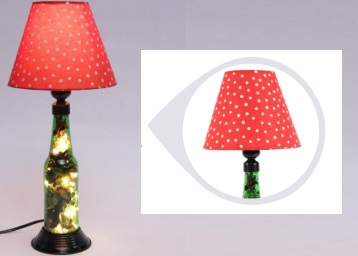 Flat 90% off : Flowers Red Glass LED Bottle Lamp discount deal
