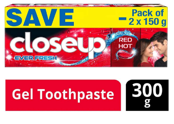Closeup Ever Fresh Red Hot Gel Toothpaste – 150 g (Pack of 2) At Rs.99 discount deal
