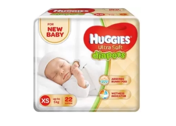 Flat 70% Off – Huggies Ultra Soft Diaper – XS Size (22 Pieces) at Rs. 98 discount deal