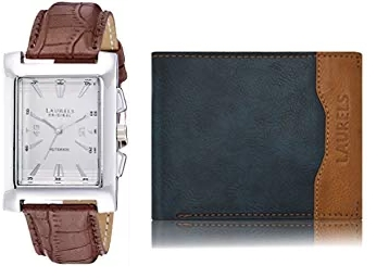 Laurels Wallets, Watches & Belts at Min. 80% off + Free Shipping discount deal