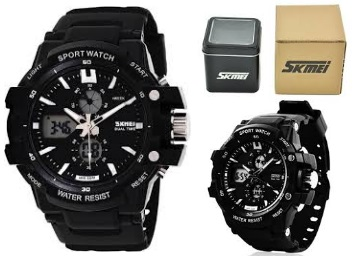 Killer Look:- Skmei AD0990-Silver Sports Watch at Lowest Online Price discount deal