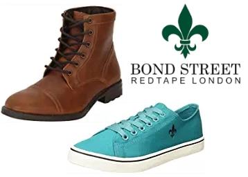 Bond Street by (Red Tape) Men's Footwear at Minimum 60% OFF discount deal