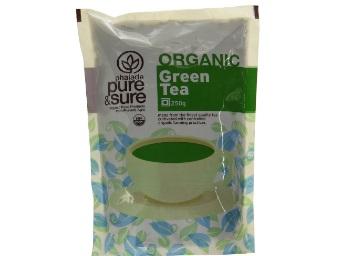 Pure & Sure Organic Green Tea, 250g at 63% off discount deal