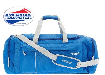American Touriste Blue Travel Duffle at Rs.1000 Only discount deal