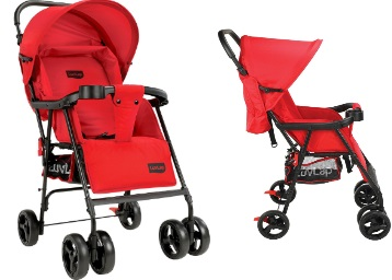Price Down : LuvLap Delight Stroller Pram, Red at Rs.1986 low price
