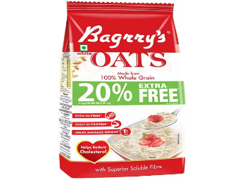 Back In Stock : Bagrry's White Oats 1kg + 200Gm Free at Rs.135 Only discount deal