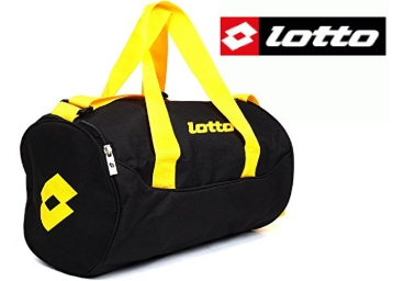Lotto Black and Yellow Gym Bag at Flat 57% OFF low price