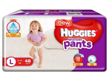 Lowest Ever:- Huggies Wonder Pants Large Diapers (48 Count) at Rs. 369 discount deal