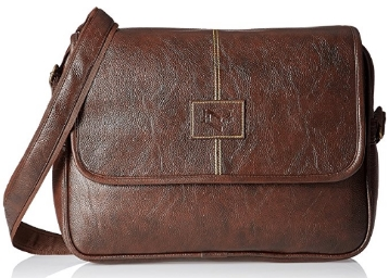 C Cuero Synthetic Brown Laptop Bag at flat 80% OFF low price