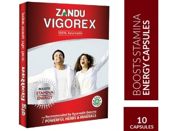 Lowest Online:- Zandu Vigorex – 10 Capsules at Flat 50% off [Free Shipping] discount deal