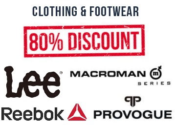 Last 4 Hours:- Minimum 80% off on Top Clothing & Footwear's Brands discount deal