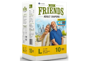 Flat 79% Off – Friends Adult Diaper Limited Edition 102 Not Out 10's Pack (Large) low price