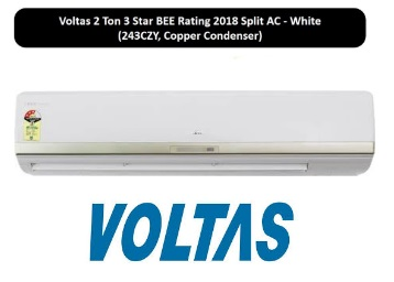 Lowest Ever:- Voltas 2 Ton 3 Star 2018 Split AC at Just Rs. 36499 discount deal