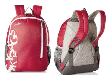 Few Stocks Left – Skybags Red Casual Backpack at Flat 70% Off + 10% Cashback discount deal