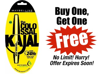 Maybelline The Colossal Kajal 0.35 g [ Buy 1 Get Another FREE] discount deal