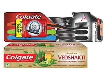 Swarna Ved Shakti Toothpaste – 200 g & Toothbrush (Buy 2 Get 1 Free) low price