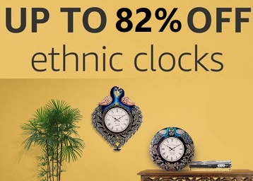 Decor Your Home:- Up to 82% off on Ethnic Wall Clocks + Free Shipping low price