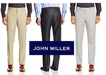 John Miller Men's Casual Trousers at Flat 70% OFF + Free Shipping discount deal