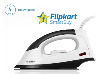 Flipkart SmartBuy 1000 W Dry Iron With Extra 15% Cashback discount deal