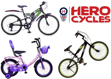 Big Deal:- Hero Cycles at Up to 52% off, starts at Rs. 1463 [Free Shipping] discount deal