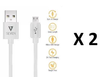 Loot:- V7 Micro USB Cable [Pack of 2] at Rs. 43 [ Via PhonePe] low price