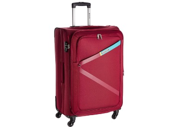 Flat 70% off:- Safari Polyester 74.5 cms Red Softsided Suitcase
