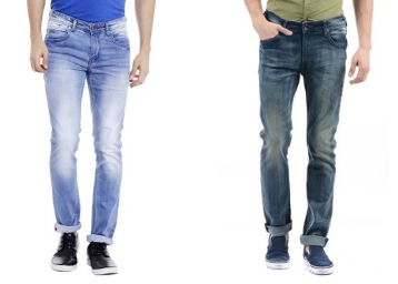 Jeans at Flat 70% Off [Wrangler, Pepe Jeans, Celio & More] low price