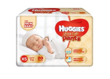 Get Huggies Ultra Soft XS Size Diaper Pants (20 Count) : Rs.98 low price