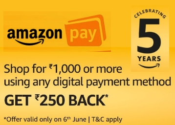 [Upcoming Dhamaka]:- Rs. 250 Cashback on Rs. 1000 with Any Payment Mode low price