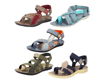 Combo Pack of 5 Sandals & Floaters at Rs.397 [Size 7] discount deal