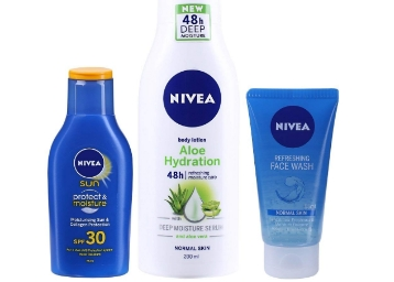 Apply Extra 50% Coupon : Nivea Sun and Aloe Combo at Rs. 197 low price