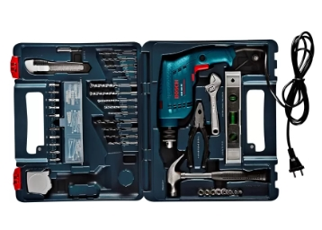 Bosch GSB 500W 500 RE Tool Set (Blue) at Just Rs.2699 [Via SBI] low price