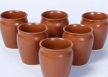CDI Matt Brown Kulhad Mugs, 150 ML, Set of 6 at Just Rs. 101 low price