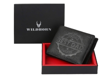 Flat 82% Off On WildHorn Black Men's Wallet + FREE Shipping discount deal